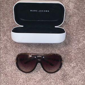 Marc Jacob brown and gold aviator sunglasses